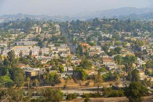 hög vinkel dis över en bostadshus foto