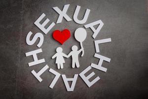 världens sexuella hälsodagskoncept foto