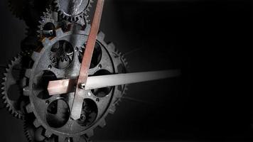 retro rostiga mekaniska klockväxlar foto