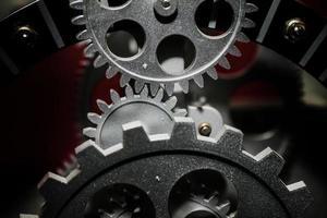 retro abstrakt industriell tappningsteknikklocka foto