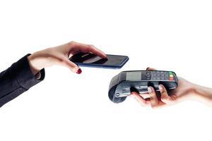 mobil betalning telefon detaljhandel nfc betala betalande smart shoppingt foto