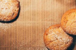 runda kakor närbild med kopieringsutrymme foto