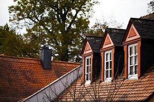 vintage gammal tysk arkitektur bondgård foto