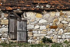 abstrakt forntida byggnad hus windows foto