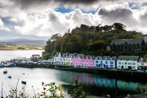 portree på Isle of Skye, Skottland foto