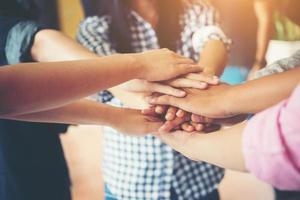 lagarbete samarbete samarbete, affärs lagarbete koncept. foto