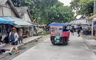 barer och restauranger i bo phut på Koh Samui, Thailand, 2018 foto