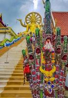 stor buddha -staty vid Wat Phra Yai -templet, Koh Samui, Thailand, 2018 foto