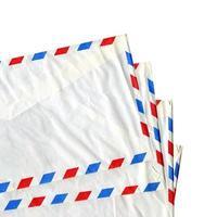luftpost brev kuvert isolerade foto