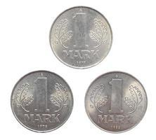 1 mark mynt, ddr tyskland foto