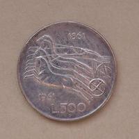 italiensk 500 lire mynt foto