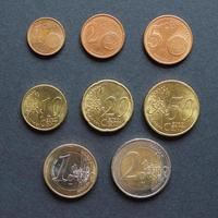 euromynt platt låg foto