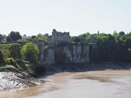 River Wye i Chepstow foto