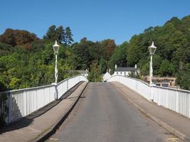 gamla Wye -bron i Chepstow foto