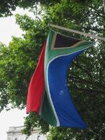 Sydafrikas flagga i Sydafrika foto