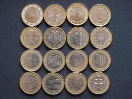 euromynt i många länder foto