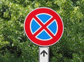 parkera inte skylten foto