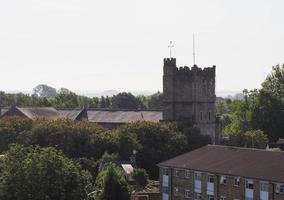 utsikt över staden chepstow foto