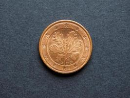 fem cent euro mynt foto