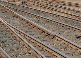 järnvägsspår perspektiv foto