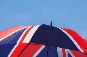 union jack paraply foto