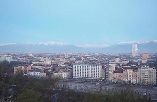 Turins skyline på morgonen foto