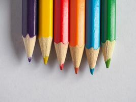 färgpenna krita foto