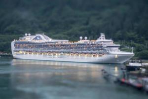 vacker alaskan kryssningsfartyg landskap foto