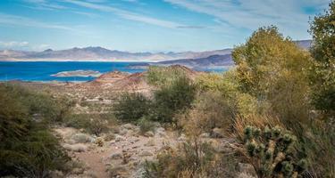 utsikt vid Lake Mead Nevada nära Hoover Dam foto