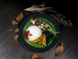 indonesisk padang -meny foto