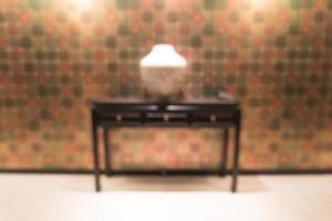 abstrakt vacker lyx oskärpa hotellinredning foto