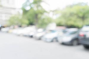 abstrakt suddig parkeringsbil för bakgrund foto