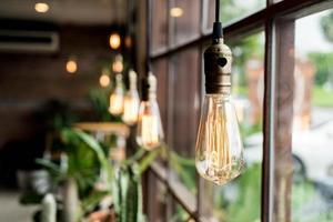 vacker ljus lampdekoration foto