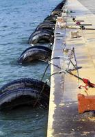 fiskespaddetaljer nära havet foto