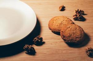 söta kex med nötter foto