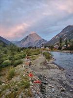 habba khatoon topp i neelum valley gurez foto
