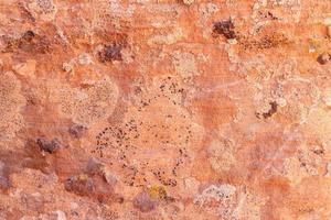 brun adobe lera vägg textur bakgrund. foto