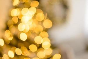jul defocus festlig design, defocused girland lampor foto