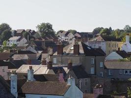 typisk brittisk stads takbild foto