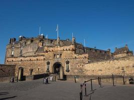 edinburgh slott i Skottland foto