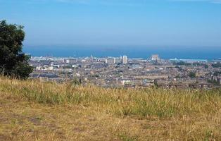 Flygfoto över Edinburgh från Calton Hill foto