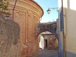 Rivoli gamla stad, Italien foto