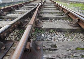 järnvägsspårdetaljer foto
