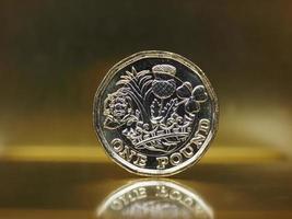 1 pund mynt, Storbritannien över guld foto