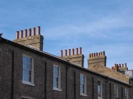 traditionella brittiska hus foto