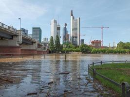 utsikt över frankfurt, tyskland foto