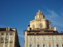 San Lorenzo -kyrkans kupol i Turin foto