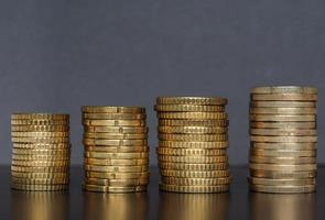 euro mynt hög, Europeiska unionen bakgrund foto