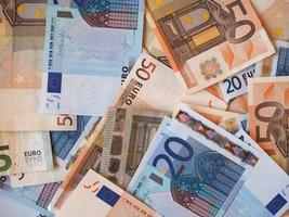 euro eur -sedlar, Europeiska unionen eu foto
