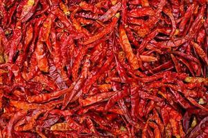 torkad röd chili get paprika bakgrund foto